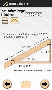 Hip Roof Design Calculator Rafter Calculator Android Apps On Google Play