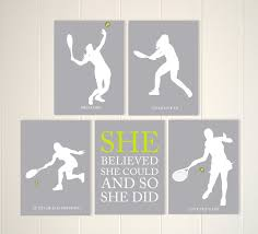 girls tennis art tennis player girls art girls room wall