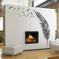 home decor picture more detailed picture about free shipping free shipping creative feather vinyl wall decal feathers flying birds mural art wall sticker living room