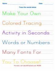handwriting practice copywork generator that will print out any