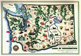 map of wa state large detailed industrial illustrated map of washington state
