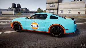 gulf car ford mustang boss 302 2013 gulf for gta 4
