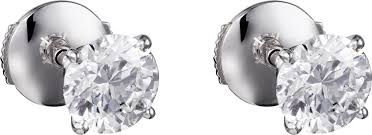 diamonds earrings crhp800725 classic diamonds earrings platinum diamonds cartier