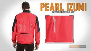 cycling jacket red pearl izumi select thermal barrier cycling jacket for men youtube