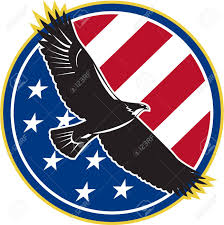 Usa Stars Flag Illustration Of A Bald Eagle Soaring Flying With American Usa