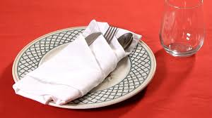how to make fancy table napkins how to fold a napkin into a french pleat napkin folding youtube
