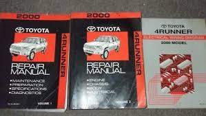 toyota 4runner repair 2000 toyota 4runner service shop repair manual set oem service
