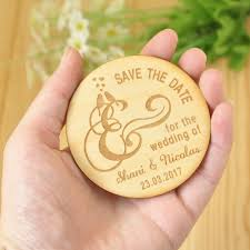 Cheap Save The Date Aliexpress Com Buy Wooden Save The Date Magnets Rustic Wooden