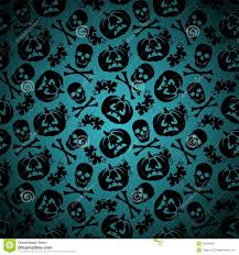 halloween repeating background patterns halloween background with pumpkin and skeleton stock vector