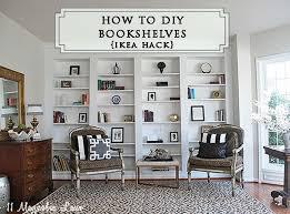 Tall Bookshelves Ikea by 171 Best Ikea Hacks Images On Pinterest Ikea Hacks Built In