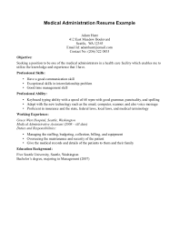 Example Restaurant Resume by Medical Administration Resume Sample Free Resume Example And