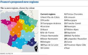A Map Of France by France Redraws Regional Boundaries In Great Map Revolution World