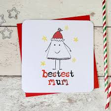 bestest mum funny christmas card by parsy card co