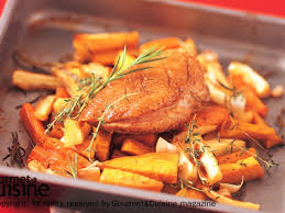 duck in cuisine duck breast with roasted root vegetables ส ตรจาก gourmetandcuisine com
