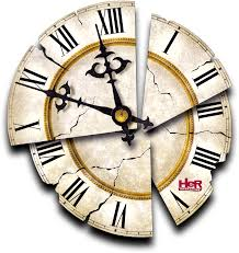 the cracked clock face from nancy drew secret of the old clock
