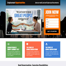 employment opportunity landing page design templates to boost your