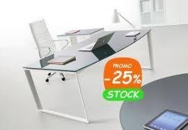 bureau en verre design bureau direction verre contemporain au design élégant vente