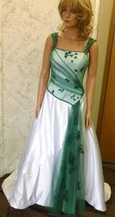 green wedding dress bridal gowns with color and white wedding dress with cap