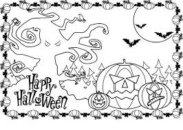 happy halloween coloring pages printable divascuisine