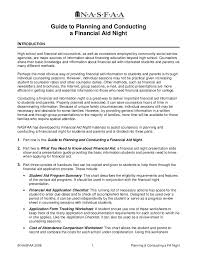 guide to planning and conducting a financial aid night930 thumbnail 4 jpg cb u003d1272003604