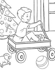christmas coloring page present for little boy christmas