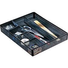 Desk Drawer Organizer Trays Rolodex Mesh Desk Drawer Organizer 6 Compartments Black 11