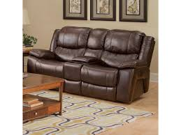Loveseat Recliners New Classic Kenwood Casual Dual Recliner Console Loveseat With Cup