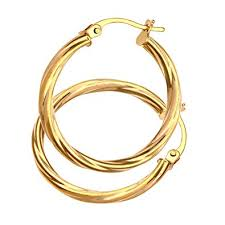 gold hoops earrings citerna 9 ct yellow gold hoop earrings co uk jewellery