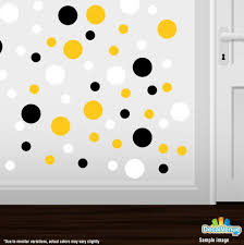 black yellow white polka dot circles wall decals decal venue black yellow white circle polka dots decal stickers decal venue