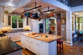 Kitchen Hanging Pot Rack by Kitchen Design Ideas Kitchen Materials List Black Varnished