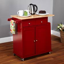 furniture stainless steel top kitchen cart which decorated with