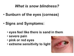 eyes sensitive to light treatment cold weather and mountain environmental injury prevention and