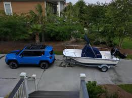 jeep kayak trailer tried towing with the renegade post pics and experiences here