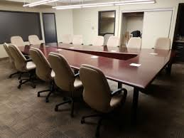 Office Furniture Kitchener Waterloo Wood Veneer Angled Boardroom Table Cherry Kitchener