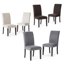 Microsuede Dining Chairs Set Of 2 Light Beige Padded Microfiber Dining Chairs