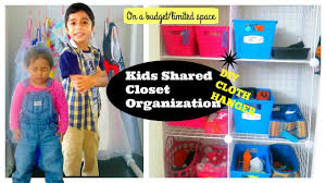 shared closet organization diy cloth hanger kid friendly closet