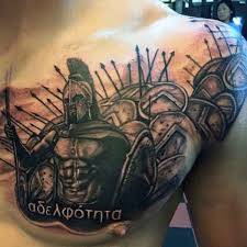 Ideas For Chest Tattoos Spartan Men U0027s Warrior Chest Tattoo Ideas Krigare Pinterest