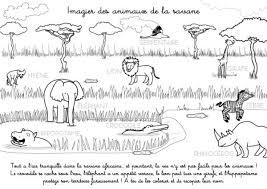à imprimer imagier des animaux de la savane