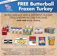 free turkey for thanksgiving from bj s