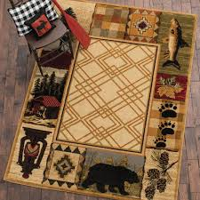 pine cone area rug rustic wildlife rugs including moose and bear rugs black forest