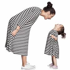 norbi parent child striped shirt dress family clothes