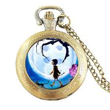antique necklace chains images Anime movie coraline necklace coraline pocket watch necklace chain jpg