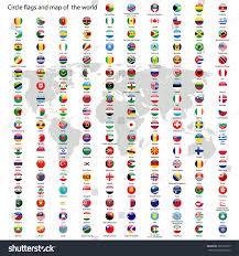 Circle Map Circle Flags Vector World World Map Stock Vector 167307677