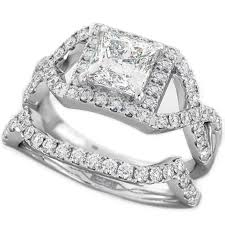 halo design rings images Round cut cz halo design 2 piece genuine 925 sterling silver jpg