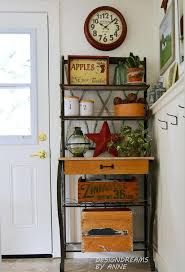 Bakers Rack Kitchen Bakers Rack On Wheels French With Hutch Subscribed Me