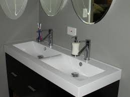 perfect trough bathroom sink with two faucets home 35114293 to