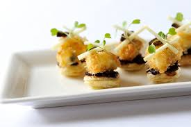 crab canapes macadamia canapé recipe great chefs