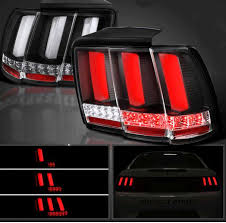 99 04 mustang sequential tail light kit 99 04 mustang taillights gen 12 black with built in sequential 123