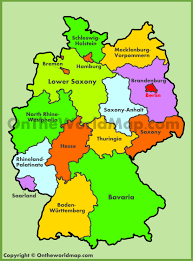 German States Map by German States And State Capitals Map At Map Of Garmany