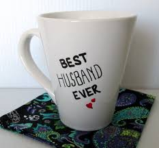 Best Coffee Mug Best Husband Ever Coffee Mug Typography Funny Quote Mug Hand